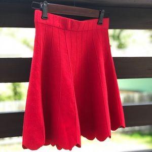 NWT  Fire Red Mini Skirt